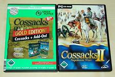 2 PC SPIELE SET COSSACKS GOLD EDITION EUROPEAN WARS & ART OF WAR & 2 NAPOLEONIC