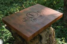 Personalized Mahogany Sapele End Grain Cutting Board Personalize Made In USA