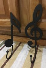 Music Note Clothing Coat Hook Metal Wall Decor Guitar Drums Pic Band Bedroom