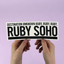 "Rancid ""Ruby Soho"" Sticker! Ramones, NOFX, Operation Ivy, Green Day, Distillers"