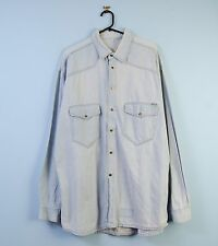 Mens Vintage Denim Shirt in Light Blue XL X-Large