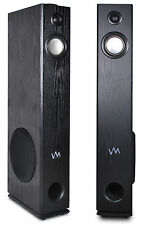VM Audio EXAT11 Black Floorstanding Powered Bluetooth Home Tower Speakers Pair