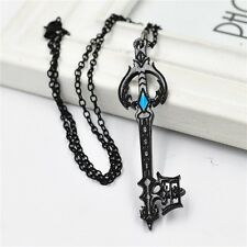 Anime Kingdom Hearts Oblivion Keyblade Black Metal Pendant Necklace Cosplay