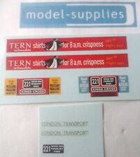 Dinky 289 Routemaster reproduction Tern Shirt decals set