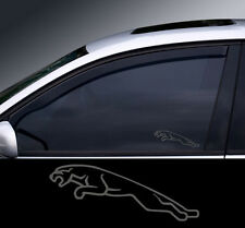 2 x Jaguar Logo Glass Effect Window Decal, Sticker, Graphic