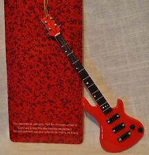 Red Bass Guitar  Ornament New in Box Music Christmas Decoration
