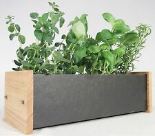 Window Herb And Flower Planter Box : Oak and Slate : Kitchen / Garden / Home
