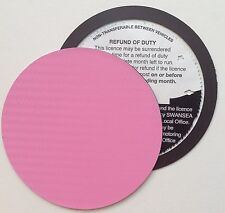 magnetic tax disc holder PINK carbon fibre fits clio rolls royce bentley bmw bug