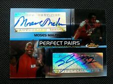 SHAQUILLE SHAQ O'NEAL/MOSES MALONE 2004-05 TOPPS FINEST DUAL AUTOGRAPH AUTO #/50