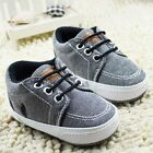 HQs Baby Toddler infant boy Soft Sole fashion prewalker Crib Shoes 0-18 Month