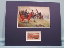 James Longstreet & Robert E. Lee on Seminary Ridge and the Gettysburg stamp