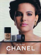 Publicité Advertising 016 1985 Chanel le teint