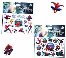 2 DIFFERENT SPIDERMAN TATTOO SHEETS Childrens Birthday Party Gift Bag Filler