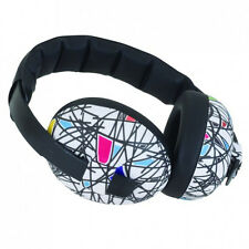 BABY BANZ NEW White Ear Muffs Mini Defenders Squiggle BNWT