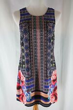 Women's Willi Smith Tunic Dress Sleeveless Multi color print Size 4