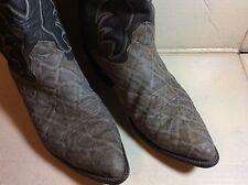 Vtg. Nocona Elephant Grain Leather Cowboy Boots Size 9.5 D