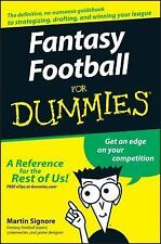 Fantasy Football for Dummies by Martin Signore (2007, Paperback)