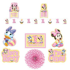 Disney Baby MINNIE Mouse ROOM DECORATING KIT 1st Birthday Party Decorations