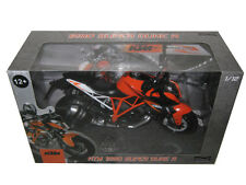 KTM 1290 SUPER DUKE R 1/12 MOTORCYCLE MODEL BY AUTOMAXX 605101