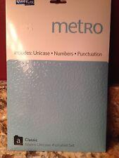 Quickutz Metro Classic Alphabet