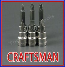 CRAFTSMAN HAND TOOLS 6pc 3/8 phillips / flat blade screwdriver socket bit set