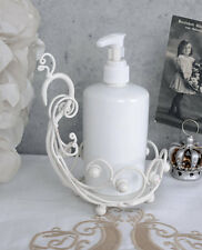 JUGENDSTIL Seifenspender Weiss Lotionspender Shabby Chic Spender Vintage Bad