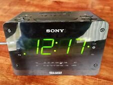 Sony Dream Machine Large Display Dual Alarm Clock Radio Auto Time Set ICF-C414