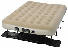Serta EZ AIR MATTRESS with Never Flat Pump, Plush Queen AIR BED, ST840019, Tan