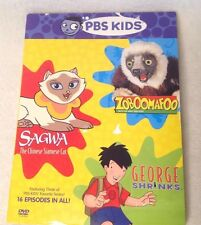 SAGWA THE CHINESE SIAMESE CAT, ZOOBOOMAFOO, GEORGE SHRINKS DVD PBS 16 SHOWS 9 HR