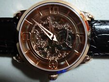 Stührling Original Men's Winchester Automatic Skeletonized Leather Strap Watch