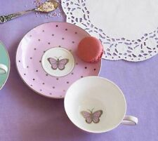 Bombay Duck Miss Darcy Bird Butterfly, Teacup & Saucer in Rose Pink, Tea Cup,