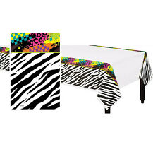 Totally 80s Plastic Table Cover ~ I Love The 80s Disco Party Decoration Supplies