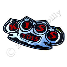 Roller Derby KISS THIS Knuckle Duster Sticker