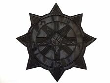 BAPHOMET CHAOS  BLACK  EMBROIDERED BACK PATCH