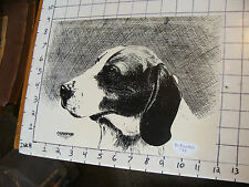 ORIGINAL Print by Victor Flanders of DOG called Champion
