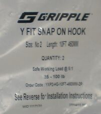 Gripple Y Fit Snap on Hook 10 FT Long Working load @ 5:1 New in sealed package