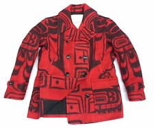 RALPH LAUREN DENIM & SUPPLY TRIBAL PRINT HEAVY WOOL MEN PEACOAT/JACKET (LARGE)