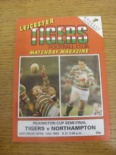 10/04/1993 Rugby Union Programme: Anglo-Welsh [Pilkington] Cup Semi-Final - Leic