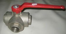 """Stainless Steel 3 way ball valve 1-3/4"""" fitting"""