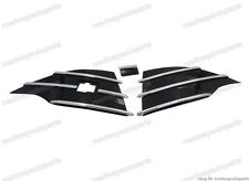 Gloss Black Front bumper grille triangle Cover Inserts for Ford Escape 2013-2016