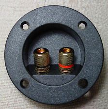 ROUND SPEAKER TERMINALS BOX GOLD SUBWOOFER TERMINAL 1
