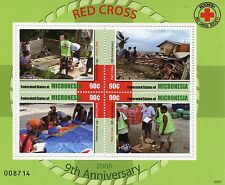 Micronesia 2007 MNH Red Cross Society 9th Anniv 4v M/S Medical Health Stamps