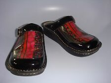 Alegria Nursing Shoes Seville Open Back Clog Fuschia Pattern FREE SHIPPING