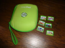 LEAP FROG LEAP PAD LEAPPAD CASE AND 6 CARTRIDGES GAMES