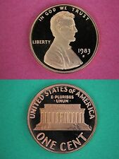 1983-S Proof Lincoln Memorial Cent Penny Deep Cameo Flat Rate Shipping