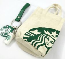 NEW STARBUCKS COFFEE KEYCHAIN WITH MINI BAG GIFT THAILAND RARE KEYRING