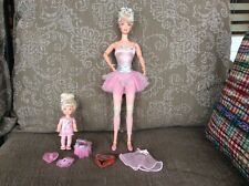 BARBIE DOLL BALLERINA with KELLY DOLL