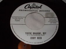 JERRY REED You're Braggin' Boy/Too Busy Cryin' the Blues 45 Promo Capitol