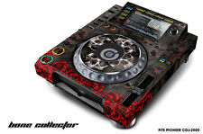 Skin Decal Sticker Wrap for Pioneer CDJ 2000 Turntable DJ Mixer Pro Audio BONES