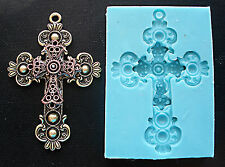 Silicone Mould VINTAGE CROSS – 2 Sugarcraft Cake Decorating Fondant / fimo mold